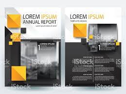 orange and black brochure design templates layout vector