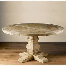 restoration hardware oval dining table pedestal salvaged wood round table round dining tables