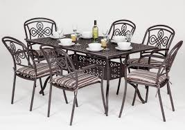 Metal Garden Table Brompton Metal Garden Rectangular Set Garden Furniture Compare