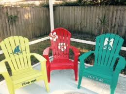 painted white resin chairs hometalk