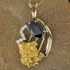 necklace pendant designs gold images Sapphire gold nugget diamond pendant design 2627 taylors fine jpg