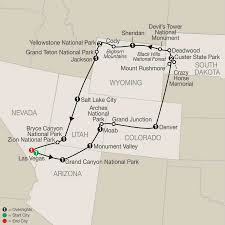 map salt lake city to denver national parks tour america vacation packages usa globus