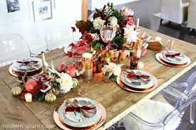 blush and gold thanksgiving table