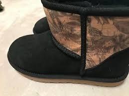 s ugg australia black boots nwob s ugg australia black mini island floral cork