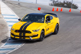 Yellow Mustang With Black Stripes 2017 Ford Shelby Gt350 One Week Review Automobile Magazine