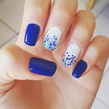 blue and white nail design images nail art designs