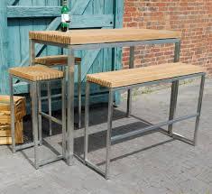 Garden Bar Table And Stools Ingarden Teak Garden Bar Table High Benches High Bar Stools