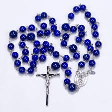 mens rosary blue lapis rosary rosaries and chaplets by sue