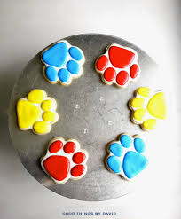 good david paw patrol cookies