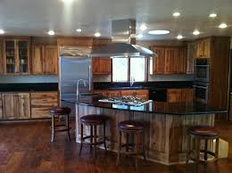 Solid Surface Cabinets Light Hickory Cabinets Black Countertops Premium Granite