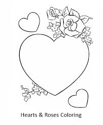 beautiful hearts roses coloring color luna