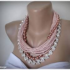 glass pearl necklace images Wedding pink glass pearl necklace chic selections shop jpg