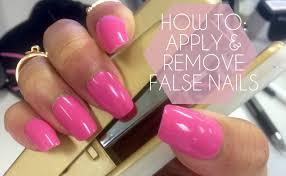 how to prep apply u0026 remove false nails press on youtube