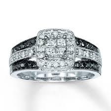 kays black engagement rings engagement ring 5 8 ct tw diamonds 14k white gold