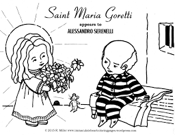 the little saint of great mercy u2013 immaculate heart coloring pages