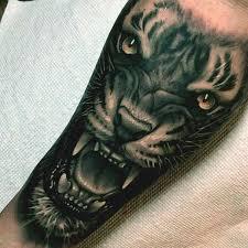 inside forearm tat for derik 3d tiger designs on
