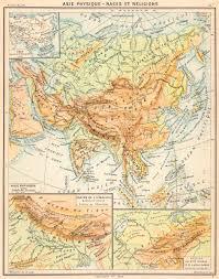 map asie asie physique races religions maps chane de l himalaya bassins syr