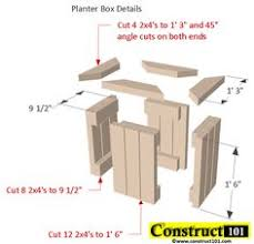 Wood Planter Bench Plans Free by Planter Bench Plans Built With 2x4 U0027s Free Pdf Planter Bench