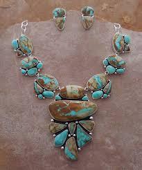 turquoise necklace sets images Royston boulder turquoise kingman turquoise necklace set jpg