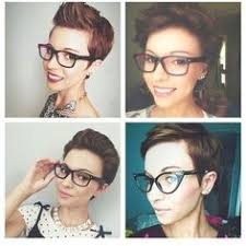 how to style a pixie cut different ways black hair 4 ways to wear a pixie with glasses glam hair pinterest