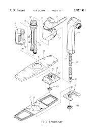 patent us5822811 extensible faucet structure of kitchen cabinet