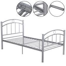 Where To Buy Metal Bed Frame by Costway 83 U0027 U0027x42 U0027 U0027x35 U0027 U0027 Black Metal Bed Frame Platform Twin Size