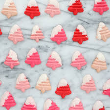 bake it pink ombre tree spritz cookies snow covered trees