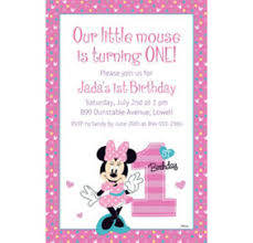 custom minnie mouse 1st birthday banners invitations u0026 thank you