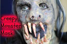creepy monster mask diy youtube