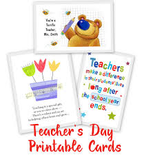 s day cards for school 20 awesome teachers day card ideas with free printables