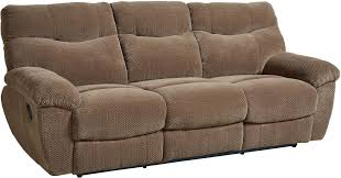 Reclinable Sofa by Escapade Taupe Brown Reclining Sofa From Standard Furniture