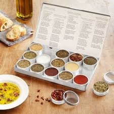 cooking gifts gourmet oil dipping spice kit spice blends uncommongoods