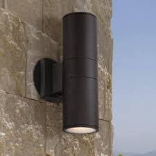 Downlight Wall Washer Possini Euro Design Ellis Black Outdoor Up And Downlight