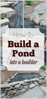 how to build a pond into a boulder