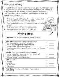 4th grade narrative writing template english pinterest