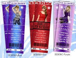 taylor swift party invitation printable ticket style birthday