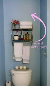 Bathroom Storage Behind Toilet Diy Bathroom Storage Over The Toilet Miss Frugal Fancy Pants