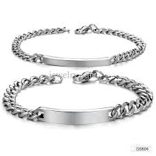 black stainless steel chain bracelet images 2018 stainless steel chain bracelet for lovers couples plate chain jpg
