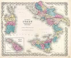 Map Of Southern Europe by File 1855 Colton U0027s Map Of Southern Italy Sicily Sardinia And