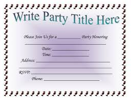 party invitation template word theruntime com
