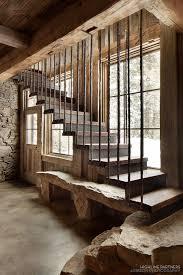 Garage Stairs Design Best 25 Rustic Stairs Ideas On Pinterest Log Cabin Homes Log