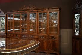 Extra Large Dining Room Tables Large Mahogany China Cabinet Large Breakfront Extra Large