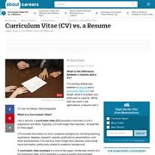 Difference Between Resume And Cv Resume Curriculum Vitae Cv Job Hunting Etc Pearltrees