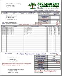 landscaping invoice template word invoice example