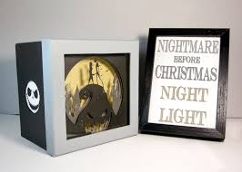 unique home decoration nightmare before christmas shadow box night light unique