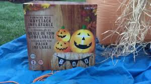 reviewing my halloween inflatable pumpkins with haystack youtube