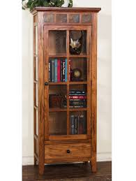 reclaimed wood curio cabinet rustic display cabinet stylish oak curio with regard to 10