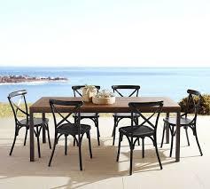 Galvanized Bistro Chair Carmen Teak Rectangular Dining Table U0026 X Back Bistro Chair Set