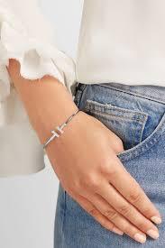 tiffany wire bracelet images Tiffany co t wire 18 karat white gold diamond bracelet net jpg