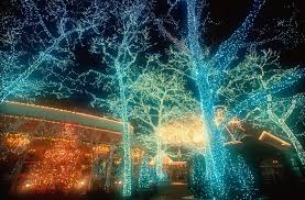 blue christmas lights 25 outdoor christmas decoration ideas in pictures